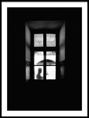 Art print titled I Go Outside, When It Rains by the artist Carlo Ferrara
