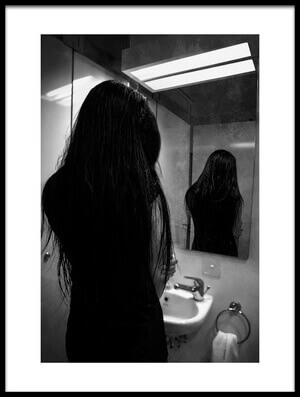 Art print titled I Hate Mirror by the artist anthony skip