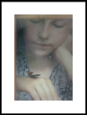 Art print titled I Wish I Could Fly Away by the artist Mirjam Delrue