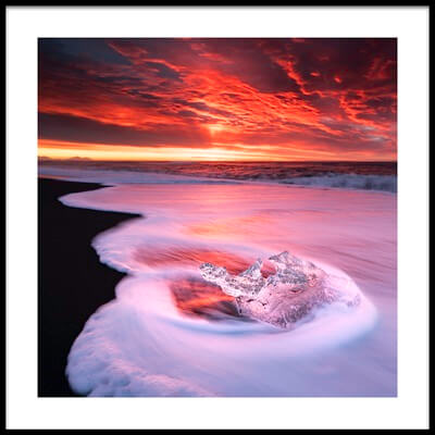 Buy this art print titled Ice and Fire by the artist Jingshu Zhu