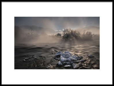 Art print titled Ice Cold Winter Morning by the artist Nina Pauli