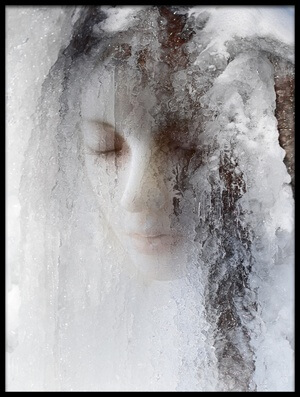 Art print titled Ice Queen by the artist jeffrey hummel