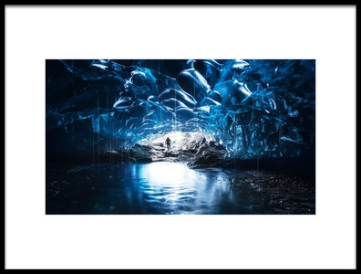 Art print titled Ice River by the artist David Martín Castán