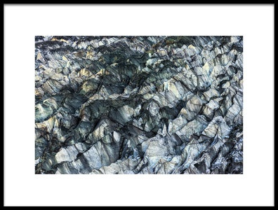 Buy this art print titled ICE Texture In Hopper Glacier by the artist Kowit.Lee