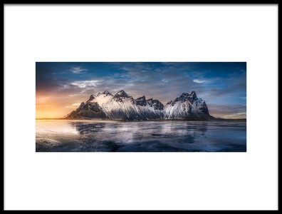 Buy this art print titled Iceland Glory Sunset by the artist joanaduenas