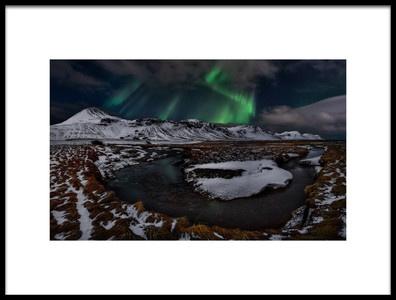 Buy this art print titled Icelandic Horseshoe Bend by the artist Javier de la Torre