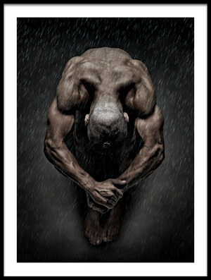 Art print titled Igor In the Rain II by the artist DDiArte