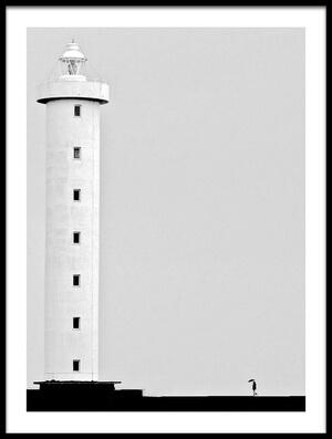 Art print titled Il Faro by the artist Luciano Caturegli