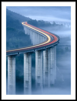 Art print titled Il Viadotto Di Pietrasecca (IT) by the artist Riccardo Lucidi