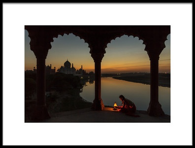 Buy this art print titled Illuminating the Taj by the artist Thomas Siegel