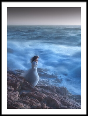 Art print titled I'm Not Afraid! by the artist Paolo Lazzarotti