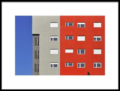 Art print titled In the Big City by the artist Aleksandar Naumceski