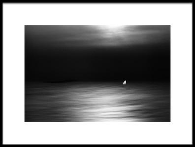 Art print titled In the Moonlight by the artist Gustav Davidsson