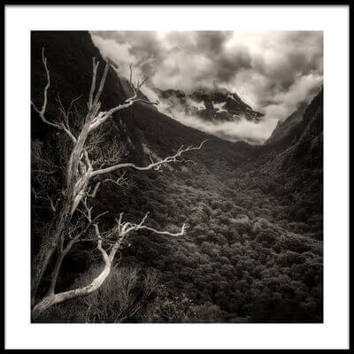Art print titled In the Mountains by the artist Atul Chopra