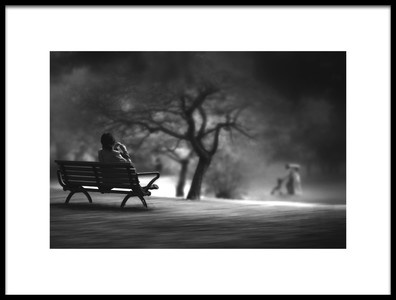 Art print titled In the Park by the artist Teruhiko Tsuchida