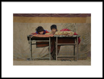 Art print titled Indian Boys by the artist Mohammed Al Sulaili