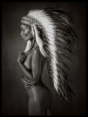 Art print titled Indian Queen by the artist Ross Oscar