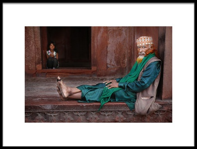 Art print titled Indian Shikh by the artist Mohammed Abd El Kader