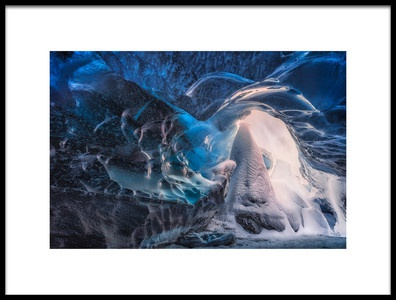 Buy this art print titled Inside the Blue Cave by the artist joanaduenas