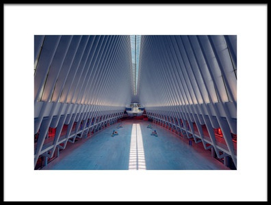 Buy this art print titled Inside the Oculus  Metro Station New York by the artist Hernan Calderon Velasco