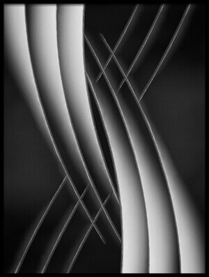 Art print titled Interlaced by the artist Jutta Kerber