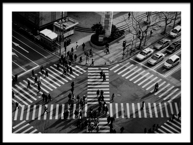 Art print titled Intersection ( Crossing Alternatives ) by the artist C.S. Tjandra