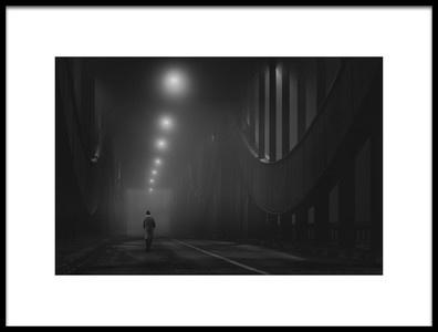 Art print titled Into the Night II by the artist Alexander Schönberg