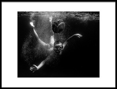 Art print titled Junior and Jellyfish 2003 by the artist Marcel Rebro