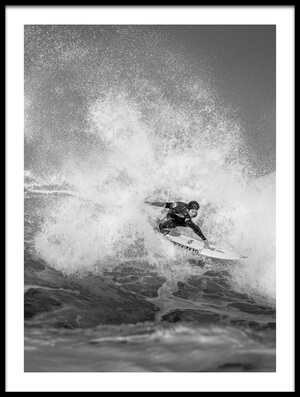 Art print titled Kanoa Igarashi Full Throttle by the artist Eric Verbiest