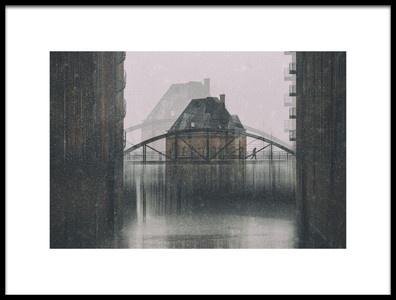 Art print titled Kehrwiederfleet Bei Schnee by the artist Alexander Schönberg