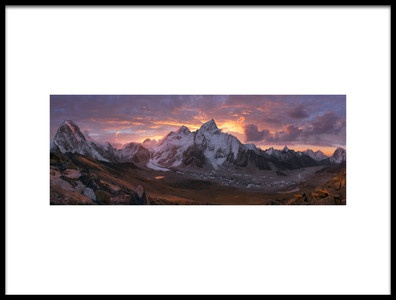 Art print titled Khumbu Valley by the artist INIGO CIA