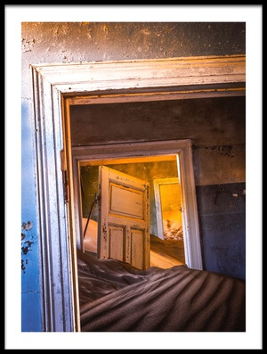 Buy this art print titled Kolmanskop - Blue Room by the artist Xenia Ivanoff-Erb