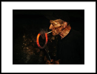 Art print titled Kowal  Blacksmith by the artist Maciej Przeklasa