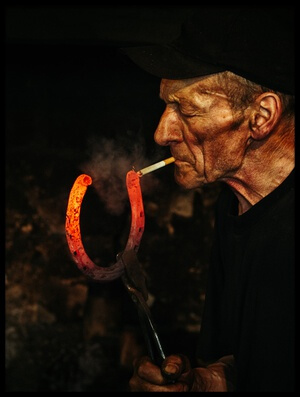 Buy this art print titled Kowal / Blacksmith by the artist Maciej Przeklasa