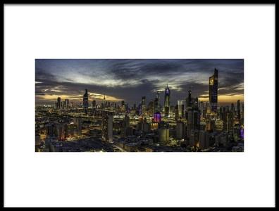 Buy this art print titled Kuwait City by the artist AHMAD AL SAFFAR