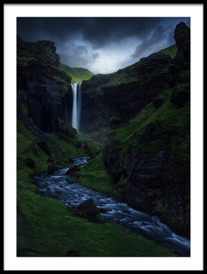 Buy this art print titled Kvernufoss by the artist Juan Pablo de Miguel