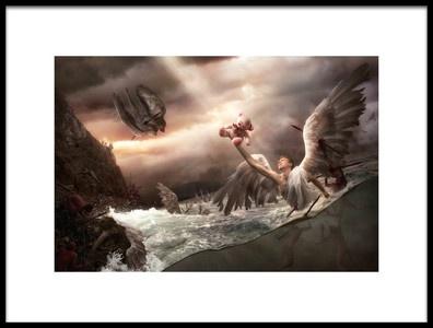 Art print titled La Baie Des Anges by the artist Christophe Kiciak