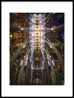 Art print titled La Sagrada Famila by the artist Ole Moberg Steffensen