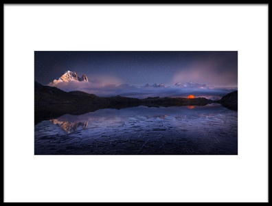 Art print titled Lac Des Cheserys by the artist Martin Dodrv