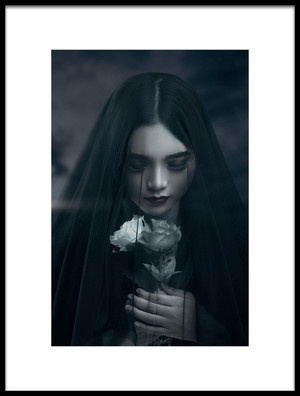 Art print titled Lady Black Rose by the artist LuLu