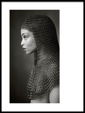 Art print titled Lady Chainmail by the artist Ross Oscar