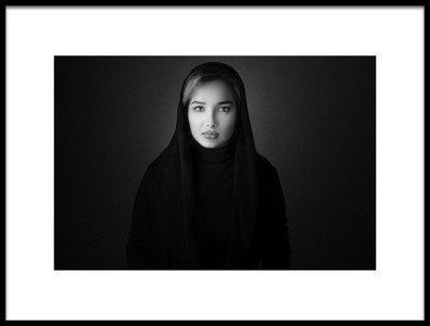 Art print titled Lady In Black by the artist Amir Beirami
