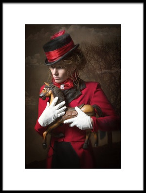 Art print titled Lady In Red by the artist Carola Kayen-Mouthaan