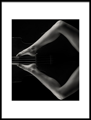 Buy this art print titled Lady With Bass 2 by the artist James Yang