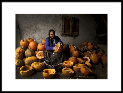 Buy this art print titled Lady With Pumpkins by the artist Mihnea Turcu
