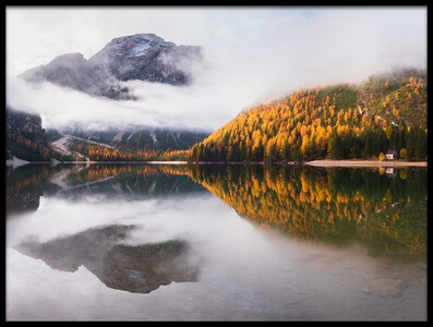 Art print titled Lake Braies by the artist Ales Krivec