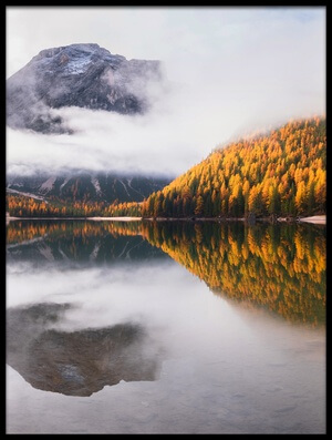 Buy this art print titled Lake Braies II by the artist Ales Krivec