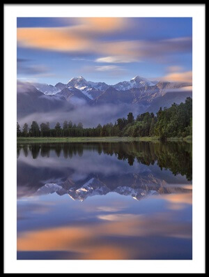 Buy this art print titled Lake Matheson by the artist Hua Zhu