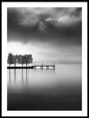 Buy this art print titled Lake View With Trees by the artist George Digalakis