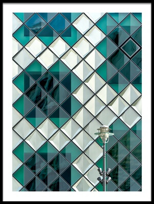 Art print titled Lamp and Squares by the artist Kurt Weinmeister